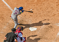 30 April 2017: New York Mets infielder Jose Reyes at bat in the 7th inning against the Washington Nationals at Nationals Park in Washington, DC. The Nationals defeated the Mets 23-5 in the third game of their weekend series. Mandatory Credit: Ed Wolfstein Photo *** RAW (NEF) Image File Available ***