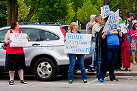 NEIU Teachers Jazz Funeral March to Governor Bruce Rauner's Mansion Winnetka Illinois June 26th, 201