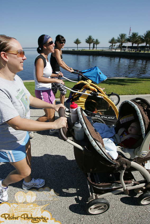 A stroller walk on Friday, October 8, 2010, to celebrate National Midwifery Week (October 3-9) in Sanford, Florida. The walk started at the Heart 2 Heart Birth Center went along the Riverwalk and then back down main street to the center. (Chad Pilster, PilsterPhotography.net)