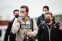 2nd September 2021: Circuit Zandvoort,  Zandvoort, Netherlands;   ALONSO Fernando spa, Alpine F1 A521 arrives for the Formula 1 Heineken Dutch Grand Prix 2021, 13th round of the 2021 FIA Formula One World Championship