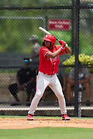 Philadelphia Phillies Marcus Lee Sang (9) bats during an Extended Spring Training game against the New York Yankees on June 22, 2021 at the Carpenter Complex in Clearwater, Florida. (Mike Janes/Four Seam Images)