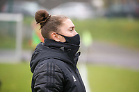 Head coach Audrey Demoustier (Woluwe) pictured during a female soccer game between FC Femina WS Woluwe and RSC Anderlecht Women on the eight match day of the 2020 - 2021 season of Belgian Women's Super League , Sunday 22nd of November 2020  in Woluwe, Belgium . PHOTO SPORTPIX.BE | SPP | SEVIL OKTEM