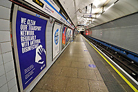 Empty trains, Empty platforms and Empty tunnels on the London Underground as the Second Covid-19 Lockdown in England severely reduces travel in the capital. November 20th 2020<br /> <br /> Photo by Keith Mayhew