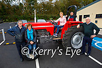 Launching the Moyvane village festival in Moyvane on Tuesday. L to r: Bobby and Marie Stack, Noreen McEvoy (on tractor, Chairperson of the Moyvane Development Association), Ian McCarthy and Seamus Roche. The festival will be held on Sunday and Monday October 24th and 25th.
