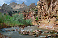 Fremont River and Navajo sandstone<br />