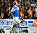 :: RANGERS' STEVEN WHITTAKER CELEBRATES AFTER HE  SCORES THE SECOND FROM THE SPOT :: .19/04/2011   Copyright  Pic : James Stewart.sct_jsp011_dundee_utd_v_rangers .James Stewart Photography 19 Carronlea Drive, Falkirk. FK2 8DN      Vat Reg No. 607 6932 25.Telephone      : +44 (0)1324 570291 .Mobile              : +44 (0)7721 416997.E-mail  :  jim@jspa.co.uk.If you require further information then contact Jim Stewart on any of the numbers above.........