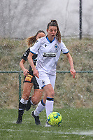 Nicky Van Den Abbeele (28) of Club Brugge with the ball during a friendly female soccer game between SC Eendracht Aalst and Club Brugge YLA on Saturday 16 January 2021 at Zandberg Youth Complex in Aalst , Belgium . PHOTO SPORTPIX.BE   SPP   SEVIL OKTEM