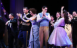 """Adam Heller, Carmen Cusack, Ben Davis, Jason Gotay, Lauren Worsham during the Curtain Call for the closing Night performance of  Encores! """"Call Me Madam"""" at City Center on February 10, 2019 in New York City."""
