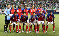 The Costa Rican starting eleven.  Mexico defeated Costa Rica 2-1 on penalty kicks in the semifinals of the Gold Cup at Soldier Field in Chicago, IL on July 23, 2009.