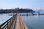 Long pier and dock at Mystery Bay State Park on Marrowstone Island, Salish Sea, Admiralty Inlet, Puget Sound, Washington.