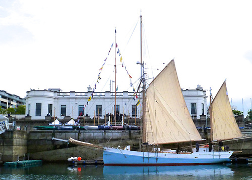 The restored Ilen at the Royal Irish YC in Dun Laoghaire in May 2019, before her voyage to West Greenland