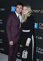 SANTA MONICA, CA - OCT 7:  Daryl Sabara and Meghan Trainor at the City Of Hope Spirit Of Life Gala 2019 at the Barker Hangar on October 7. 2019 in Santa Monica, California. (Photo by Xavier Collin/PictureGroup)