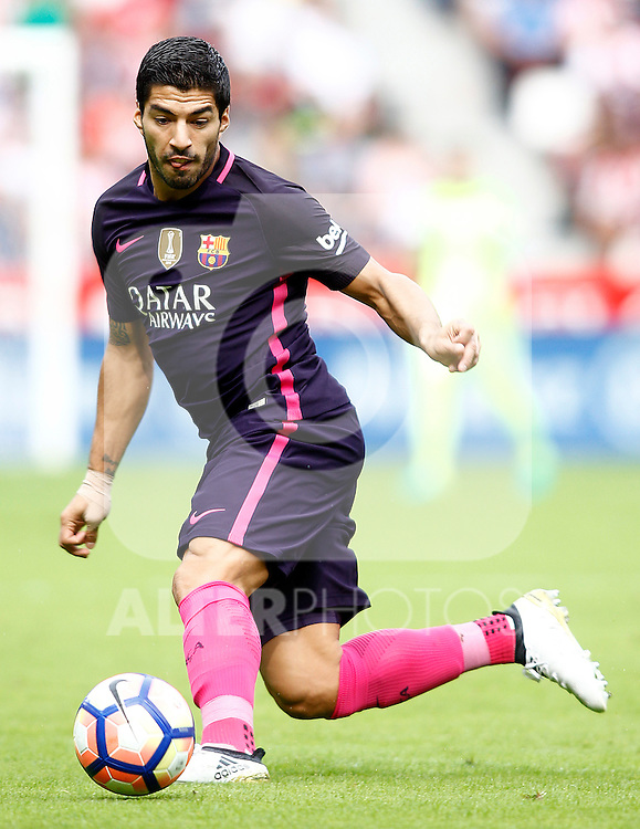 FC Barcelona's Luis Suarez during La Liga match. September 24,2016. (ALTERPHOTOS/Acero)