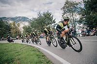 Matteo Trentin (ITA/Mitchelton-Scott)<br /> <br /> UCI MEN'S TEAM TIME TRIAL<br /> Ötztal to Innsbruck: 62.8 km<br /> <br /> UCI 2018 Road World Championships<br /> Innsbruck - Tirol / Austria