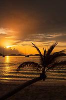 Honeymoon Beach sunset<br /> Virgin Islands National Park<br /> St. John<br /> US Virgin Islands