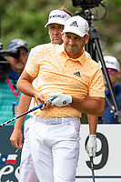 30th May 2021; Fort Worth, Texas, USA;  Ian Poulter and Sergio Garcia watches Garcia's tee shot on #9 during the final round of the Charles Schwab Challenge on May 30, 2021 at Colonial Country Club in Fort Worth, TX.