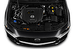 Car Stock 2019 Mazda Mazda-3 Preferred-Package 4 Door Sedan Engine  high angle detail view