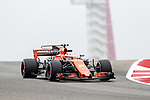 Stoffel Vandoome (2) in action before the Formula 1 United States Grand Prix race at the Circuit of the Americas race track in Austin,Texas.