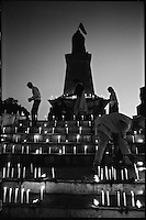 Kathmandu, Nepal, February 2005.On February 1st, King Gyanendra has decreted a state of emergency, suspending all democratic rights. The only visible public movements are in favour of the King...