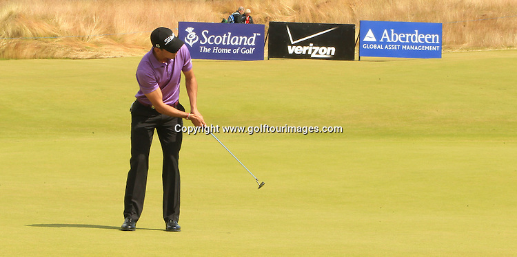 Rafael Cabrera Bello ( ESP) during the third round of the 2012 Aberdeen Asset Management Scottish Open being played over the links at Castle Stuart, Inverness, Scotland from 12th to 15th July 2012:  Stuart Adams www.golftourimages.com:14th July 2012