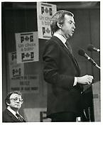 Joe Clark, le 1er decembre 1979<br /> <br /> PHOTO :  John Raudsepp - Agence Quebec presse