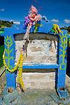 Colorful cemetery near San Nicolas, Western Highlands, Guatemala