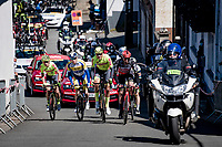 breakaway group up the Côte de St-Roche<br /> <br /> 107th Liège-Bastogne-Liège 2021 (1.UWT)<br /> 1 day race from Liège to Liège (259km)<br /> <br /> ©kramon