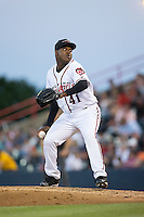 Richmond Flying Squirrels relief pitcher Jose Casilla (41) in action against the Bowie Baysox at The Diamond on May 23, 2015 in Richmond, Virginia.  The Baysox defeated the Flying Squirrels 3-2.  (Brian Westerholt/Four Seam Images)