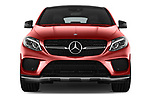 Car photography straight front view of a 2017 Mercedes Benz GLE-Class-Coupe GLE43-AMG 5 Door SUV Front View