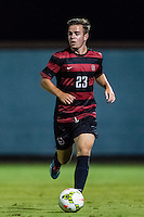 STANFORD, CA - August 19, 2014: Sam Werner during the Stanford vs CSU Bakersfield men's exhibition soccer match in Stanford, California.  Stanford won 1-0.