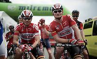 Kris Boeckmans (BEL/Lotto-Soudal) & André Greipel (DEU/Lotto-Soudal) at the start <br /> <br /> stage 3: Buchten - Buchten (NLD/210km)<br /> 30th Ster ZLM Toer 2016