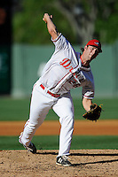 Pitcher Jacob Dahlstrand (26) of the Greenville Drive delivers a pitch in a game against the Asheville Tourists on Wednesday, April 23, 2014, at Fluor Field at the West End in Greenville, South Carolina. Greenville won, 6-0. (Tom Priddy/Four Seam Images)