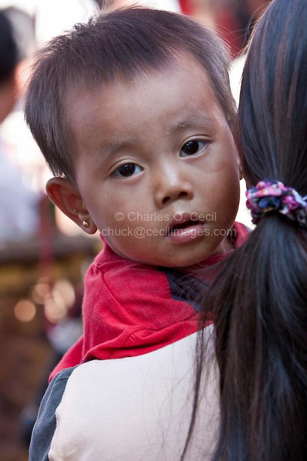 Myanmar, Burma.  Bagan.  Little Burmese Girl.