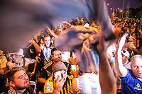 BELO HORIZONTE, MG, 02.07.2019-COPA AMÉRICA- Torcidas de Brasil e Argentina fazem a festa antes da partida entre Brasil e Argentina, válida pelas semifinais da Copa América 2019, no Estádio Mineirão em Belo Horizonte, MG, na noite desta terça feira(02)(foto Giazi Cavalcante/Código19)
