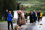 Local fans at the roadside during Stage 4 of the 2018 Artic Race of Norway, running 145.5km from Kvalsund to Alta, Norway. 18th August 2018. <br /> <br /> Picture: ASO/Gautier Demouveaux | Cyclefile<br /> All photos usage must carry mandatory copyright credit (© Cyclefile | ASO/Gautier Demouveaux)