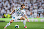 Luka Modric of Real Madrid in action during the La Liga 2017-18 match between Real Madrid and Athletic Club Bilbao at Estadio Santiago Bernabeu on April 18 2018 in Madrid, Spain. Photo by Diego Souto / Power Sport Images
