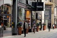Einkaufstraße Große Bleichen in Hamburg, Deutschland