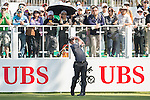 Paul Dunne of Ireland tees off the first hole during the 58th UBS Hong Kong Golf Open as part of the European Tour on 10 December 2016, at the Hong Kong Golf Club, Fanling, Hong Kong, China. Photo by Marcio Rodrigo Machado / Power Sport Images