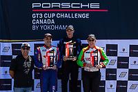 Race 2, Porsche USA Platinum Masters Podium, #20 Wright Motorsports, Porsche 991 / 2019, GT3P: Fred Poordad (M), #99 Kelly-Moss/AM Motorsports, Porsche 991 / 2019, GT3CP: Alan Metni (M), #45 Wright Motorsports, Porsche 991 / 2017, GT3P: Charlie Luck (M)