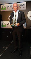 Pictured: Alan Curtis with the Lifetime Achievement Award  Wednesday 11 May 2016<br /> Re: Awards Dinner 2016, at the Liberty Stadium, south Wales, UK.