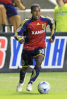 Robbie Findley in the Columbus Crew vs Real Salt Lake 1-4 RSL win at Rio Tinto Stadium in Sandy, Utah on April 2, 2009.