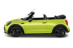 Car Driver side profile view of a 2022 MINI Cooper-Convertible John-Cooper-Works-Signature 2 Door Convertible Side View