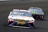 #11: Denny Hamlin, Joe Gibbs Racing, Toyota Camry FedEx Express and #1: Kurt Busch, Chip Ganassi Racing, Chevrolet Camaro Monster Energy