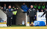 St Johnstone v St Mirren....22.01.11  .Derek McInnes and Tony Docherty react as Steven Anderson is fouled by Jim Goodwin.Picture by Graeme Hart..Copyright Perthshire Picture Agency.Tel: 01738 623350  Mobile: 07990 594431