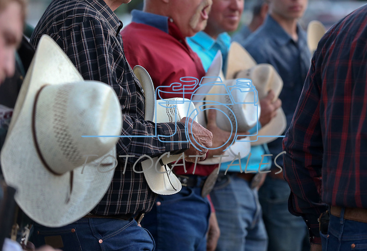 The grand entrance ceremony at the Smackdown Tour Bull Riding event at Fuji Park in Carson City, Nev., on Saturday, June 7, 2014.<br /> Photo by Cathleen Allison