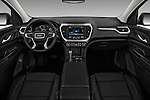 Stock photo of straight dashboard view of 2018 GMC Acadia SLT-1-FWD 5 Door SUV Dashboard