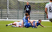 during a female soccer game between Oud Heverlee Leuven and AA Gent Ladies on the 9 th matchday of play off 1 in the 2020 - 2021 season of Belgian Womens Super League , saturday 22 nd of May 2021  in Heverlee , Belgium . PHOTO SPORTPIX.BE | SPP | SEVIL OKTEM
