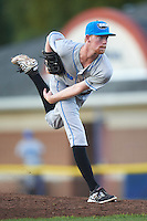 Hudson Valley Renegades starting pitcher Travis Ott (28) during a game against the Batavia Muckdogs on August 1, 2016 at Dwyer Stadium in Batavia, New York.  Hudson Valley defeated Batavia 5-1.  (Mike Janes/Four Seam Images)