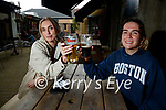 Enjoying a drink in Molly J's Benners on Monday were Sarah Twamley and Grace O'Connell (Tralee)