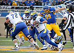 BROOKINGS, SD - MAY 8: Nolan Henderson #2 of the Delaware Fightin Blue Hens scrambles out of the pocket against the South Dakota State Jackrabbits on May 8, 2021 in Brookings, South Dakota. (Photo by Dave Eggen/Inertia)